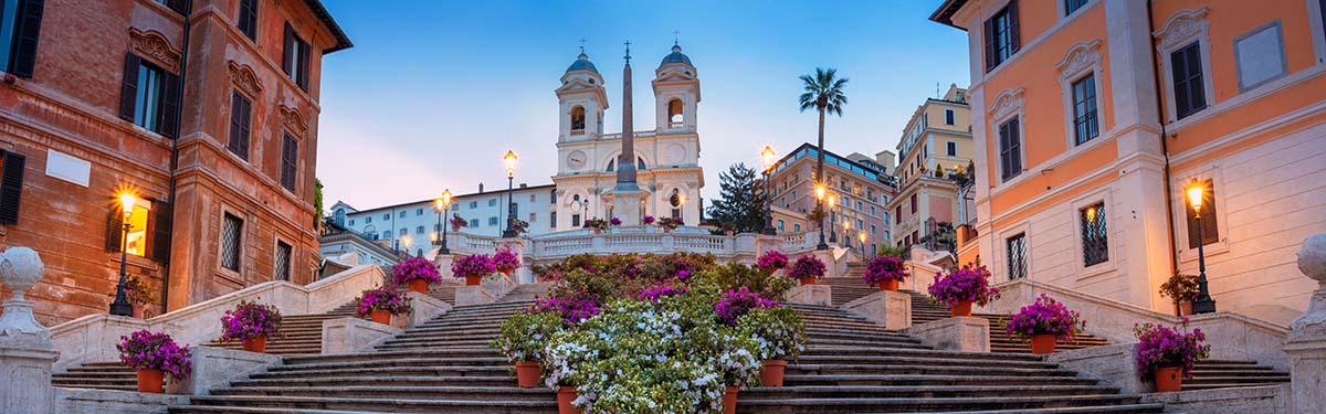 De Spaanse Trappen in Rome - Piazza di Spagna